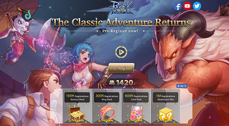 Ragnarok M: Eternal Love Pre-Registration (Global