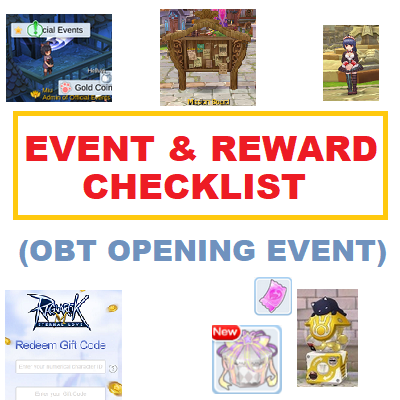 (OBT) Event and Rewards Checklist